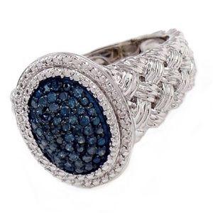 💍🆕 Savvy Cie Jewels ♡ Blue Diamond Braid Ring ♡